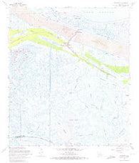 Yscloskey Louisiana Historical topographic map, 1:24000 scale, 7.5 X 7.5 Minute, Year 1968