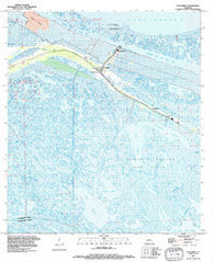 Yscloskey Louisiana Historical topographic map, 1:24000 scale, 7.5 X 7.5 Minute, Year 1994
