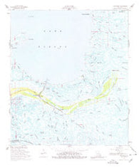 Yscloskey Louisiana Historical topographic map, 1:62500 scale, 15 X 15 Minute, Year 1957
