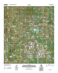 Zachary Louisiana Historical topographic map, 1:24000 scale, 7.5 X 7.5 Minute, Year 2012