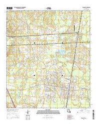 Zachary Louisiana Current topographic map, 1:24000 scale, 7.5 X 7.5 Minute, Year 2015