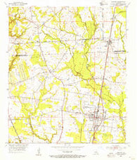 Zachary Louisiana Historical topographic map, 1:24000 scale, 7.5 X 7.5 Minute, Year 1954