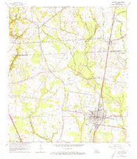 Zachary Louisiana Historical topographic map, 1:24000 scale, 7.5 X 7.5 Minute, Year 1963