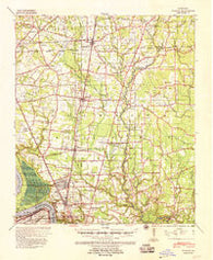 Zachary Louisiana Historical topographic map, 1:62500 scale, 15 X 15 Minute, Year 1939