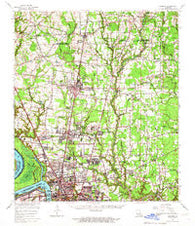 Zachary Louisiana Historical topographic map, 1:62500 scale, 15 X 15 Minute, Year 1963