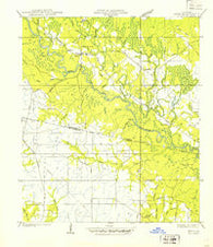 Zona Louisiana Historical topographic map, 1:31680 scale, 7.5 X 7.5 Minute, Year 1939