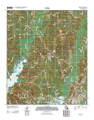 Zwolle Louisiana Historical topographic map, 1:24000 scale, 7.5 X 7.5 Minute, Year 2012
