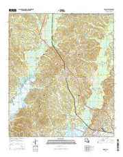 Zwolle Louisiana Current topographic map, 1:24000 scale, 7.5 X 7.5 Minute, Year 2015 from Louisiana Maps Store