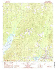 Zwolle Louisiana Historical topographic map, 1:24000 scale, 7.5 X 7.5 Minute, Year 1988