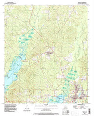 Zwolle Louisiana Historical topographic map, 1:24000 scale, 7.5 X 7.5 Minute, Year 1995