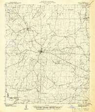 Zwolle Louisiana Historical topographic map, 1:62500 scale, 15 X 15 Minute, Year 1941