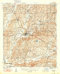 Zwolle Louisiana Historical topographic map, 1:62500 scale, 15 X 15 Minute, Year 1944