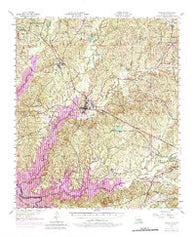 Zwolle Louisiana Historical topographic map, 1:62500 scale, 15 X 15 Minute, Year 1957