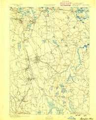 Abington Massachusetts Historical topographic map, 1:62500 scale, 15 X 15 Minute, Year 1888