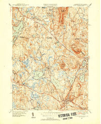 Ashburnham Massachusetts Historical topographic map, 1:31680 scale, 7.5 X 7.5 Minute, Year 1950