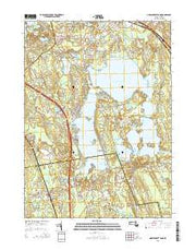 Assawompset Pond Massachusetts Current topographic map, 1:24000 scale, 7.5 X 7.5 Minute, Year 2015 from Massachusetts Maps Store