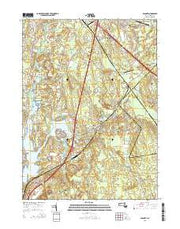 Assonet Massachusetts Current topographic map, 1:24000 scale, 7.5 X 7.5 Minute, Year 2015 from Massachusetts Maps Store