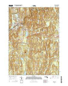 Athol Massachusetts Current topographic map, 1:24000 scale, 7.5 X 7.5 Minute, Year 2015