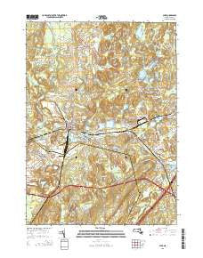 Ayer Massachusetts Current topographic map, 1:24000 scale, 7.5 X 7.5 Minute, Year 2015