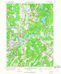 Ayer Massachusetts Historical topographic map, 1:24000 scale, 7.5 X 7.5 Minute, Year 1966