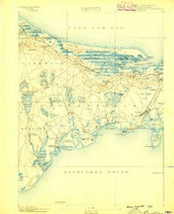 Barnstable Massachusetts Historical topographic map, 1:62500 scale, 15 X 15 Minute, Year 1888