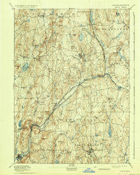 Barre Massachusetts Historical topographic map, 1:62500 scale, 15 X 15 Minute, Year 1894