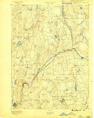 Barre Massachusetts Historical topographic map, 1:62500 scale, 15 X 15 Minute, Year 1889