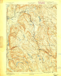 Becket Massachusetts Historical topographic map, 1:62500 scale, 15 X 15 Minute, Year 1888