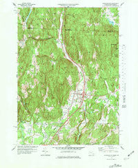 Bernardston Massachusetts Historical topographic map, 1:25000 scale, 7.5 X 7.5 Minute, Year 1977