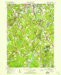 Billerica Massachusetts Historical topographic map, 1:24000 scale, 7.5 X 7.5 Minute, Year 1950