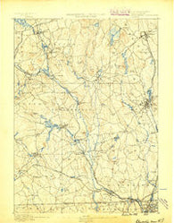 Blackstone Massachusetts Historical topographic map, 1:62500 scale, 15 X 15 Minute, Year 1889