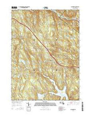 Blandford Massachusetts Current topographic map, 1:24000 scale, 7.5 X 7.5 Minute, Year 2015 from Massachusetts Maps Store