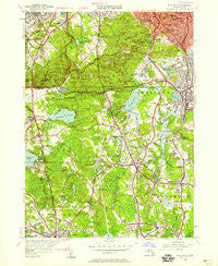 Blue Hills Massachusetts Historical topographic map, 1:24000 scale, 7.5 X 7.5 Minute, Year 1946