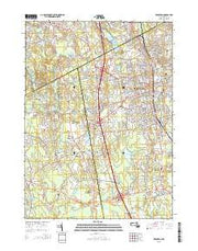 Brockton Massachusetts Current topographic map, 1:24000 scale, 7.5 X 7.5 Minute, Year 2015 from Massachusetts Maps Store