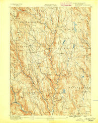 Chesterfield Massachusetts Historical topographic map, 1:62500 scale, 15 X 15 Minute, Year 1888