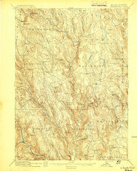 Chesterfield Massachusetts Historical topographic map, 1:62500 scale, 15 X 15 Minute, Year 1895