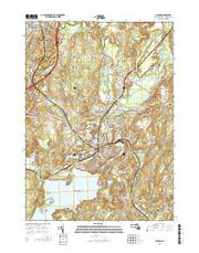 Clinton Massachusetts Current topographic map, 1:24000 scale, 7.5 X 7.5 Minute, Year 2015 from Massachusetts Maps Store