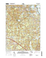 Cohasset Massachusetts Current topographic map, 1:24000 scale, 7.5 X 7.5 Minute, Year 2015 from Massachusetts Maps Store