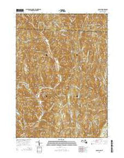 Colrain Massachusetts Current topographic map, 1:24000 scale, 7.5 X 7.5 Minute, Year 2015 from Massachusetts Maps Store