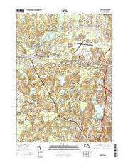 Concord Massachusetts Current topographic map, 1:24000 scale, 7.5 X 7.5 Minute, Year 2015 from Massachusetts Maps Store