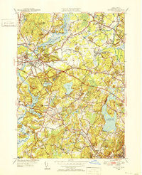 Concord Massachusetts Historical topographic map, 1:31680 scale, 7.5 X 7.5 Minute, Year 1950