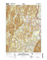 Easthampton Massachusetts Current topographic map, 1:24000 scale, 7.5 X 7.5 Minute, Year 2015 from Massachusetts Maps Store