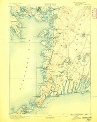 Falmouth Massachusetts Historical topographic map, 1:62500 scale, 15 X 15 Minute, Year 1888