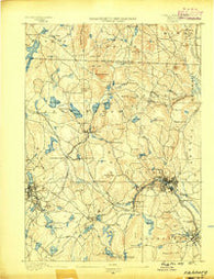 Fitchburg Massachusetts Historical topographic map, 1:62500 scale, 15 X 15 Minute, Year 1889