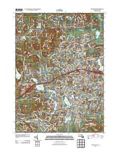 Framingham Massachusetts Historical topographic map, 1:24000 scale, 7.5 X 7.5 Minute, Year 2012