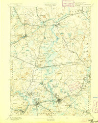 Framingham Massachusetts Historical topographic map, 1:62500 scale, 15 X 15 Minute, Year 1894