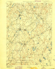 Franklin Massachusetts Historical topographic map, 1:62500 scale, 15 X 15 Minute, Year 1889