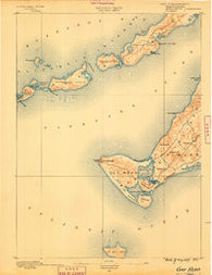 Gay Head Massachusetts Historical topographic map, 1:62500 scale, 15 X 15 Minute, Year 1889