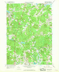 Georgetown Massachusetts Historical topographic map, 1:24000 scale, 7.5 X 7.5 Minute, Year 1966
