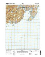 Gloucester Massachusetts Current topographic map, 1:24000 scale, 7.5 X 7.5 Minute, Year 2015 from Massachusetts Map Store